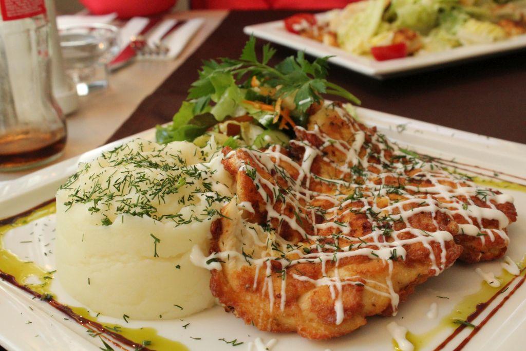 Meal at Hotel Dzintars restaurant