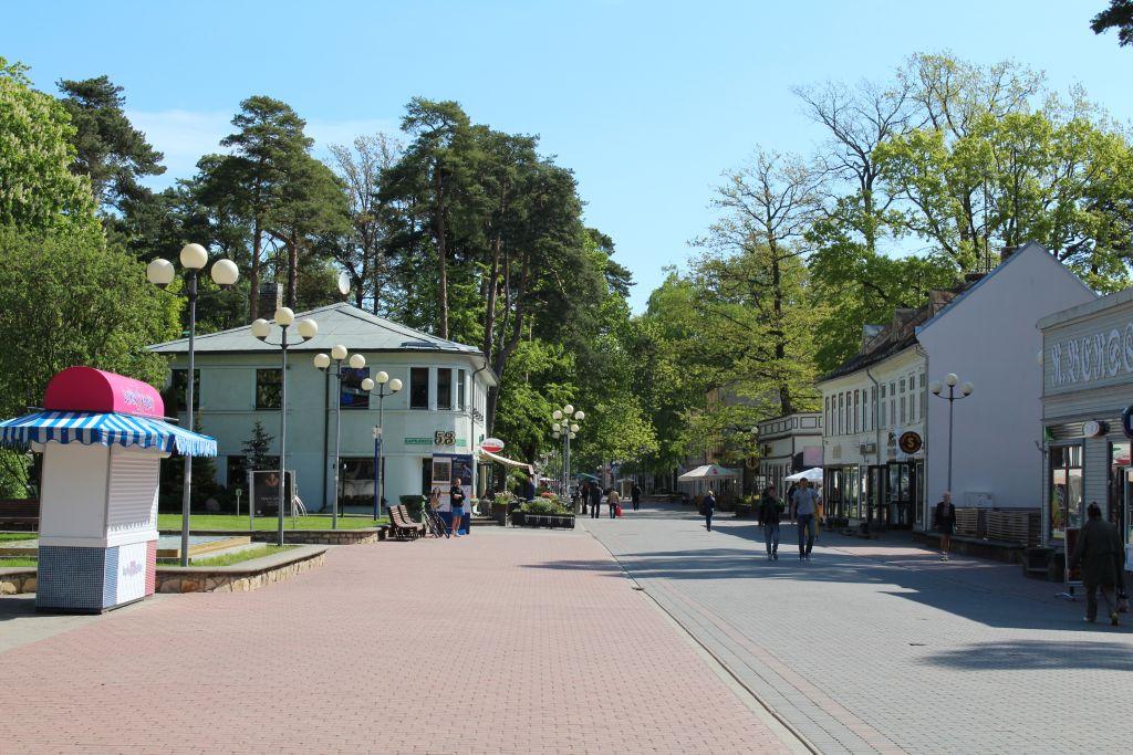 Jomas street in Jūrmala