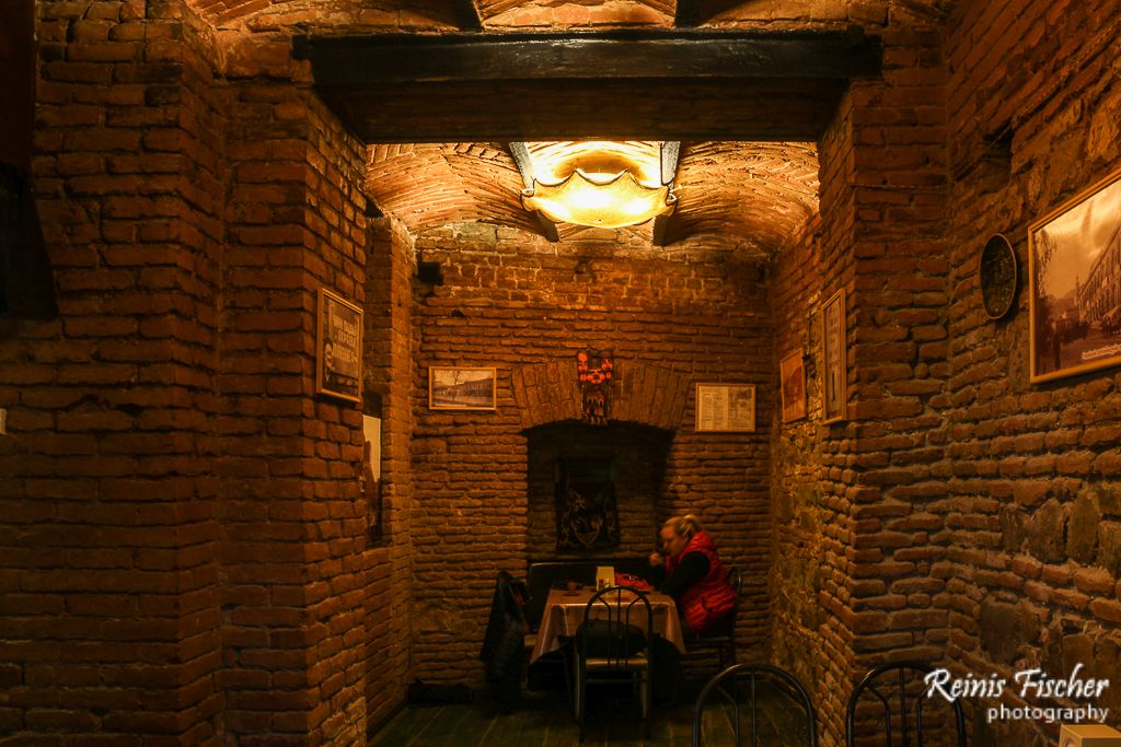 Very cozy interior at Sachebureke in Tbilisi