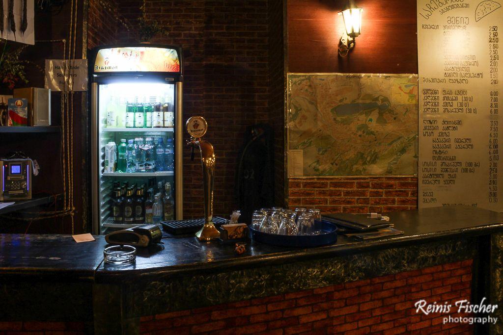 At Sachebureke cafe in Tbilisi