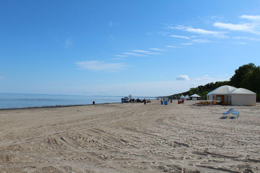 White sand beach in Jūrmala