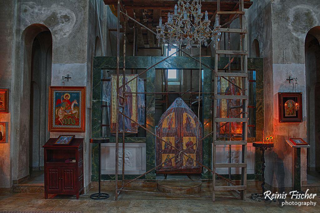Altar inside church