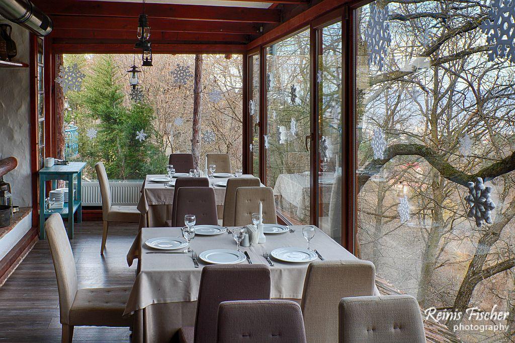 Winter terrace in Tsiskvili restaurant