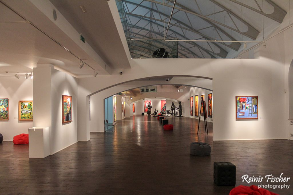 Exhibition hall at Zurab Tsereteli Museum of Modern Art