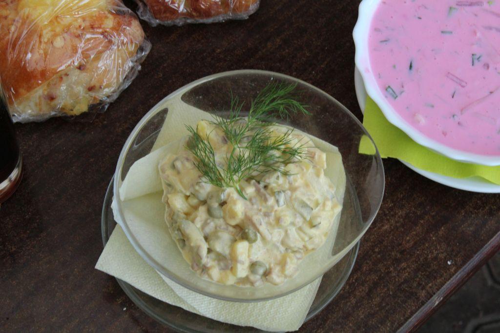 Salads and a soup at Cafe Bordertauna