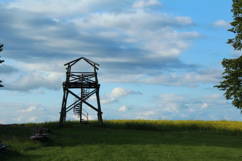 Watch tower at Guest house Garīkas
