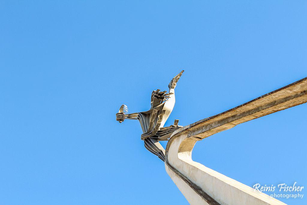 Soviet time monument