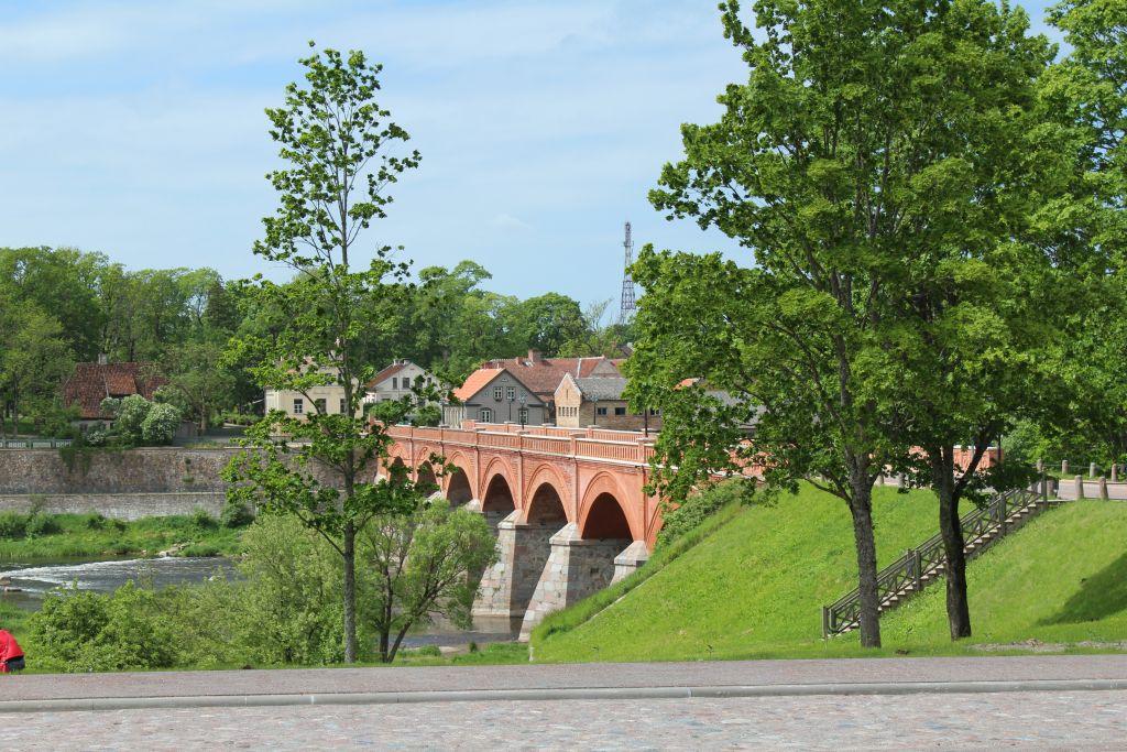 Old Brick bridge near Cafe Pilādzītis