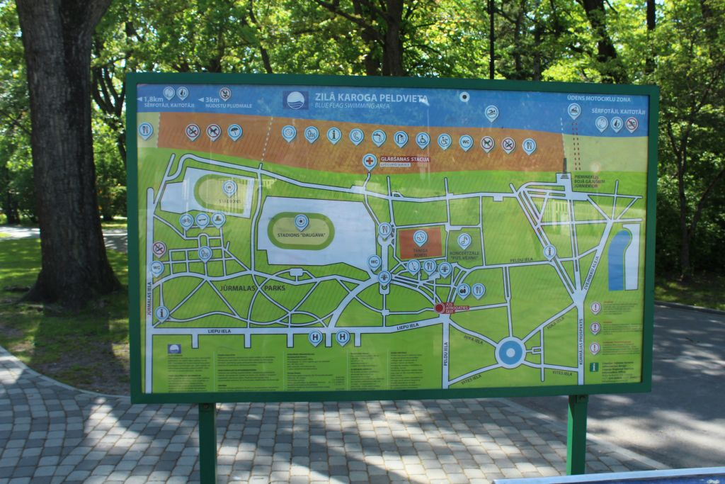 Map of the Liepaja seaside park