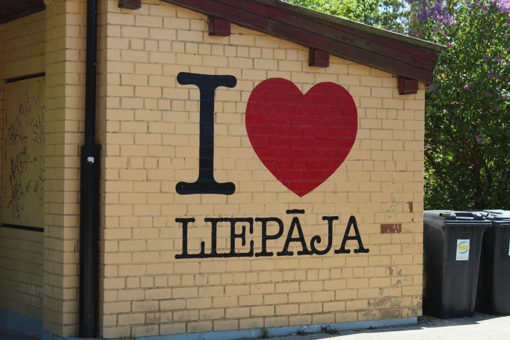 Wall art: I love Liepaja