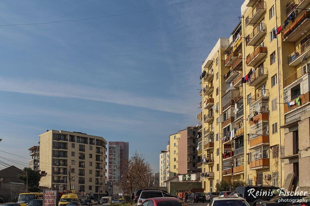 Apartment buildings in Varketili