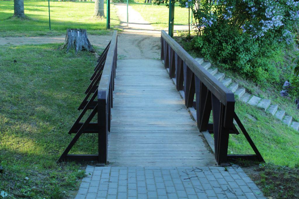 Park in Skrunda near Open Air Stage
