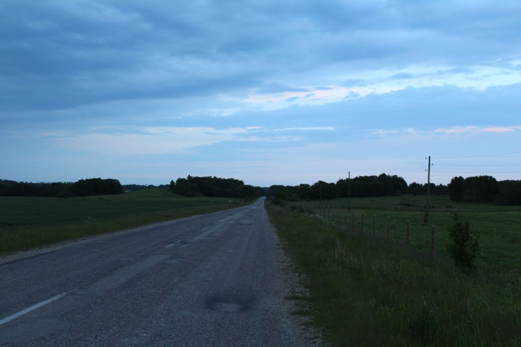 P 121 asphalt road connecting Tukums - Kuldīga
