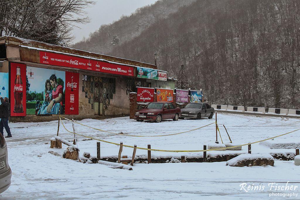 Roadside cafe near Surami mountain pass
