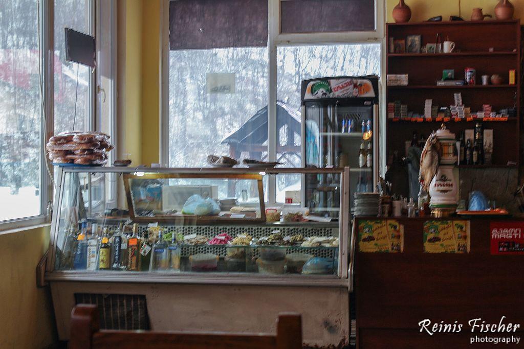 Roadside cafe near Surami pass