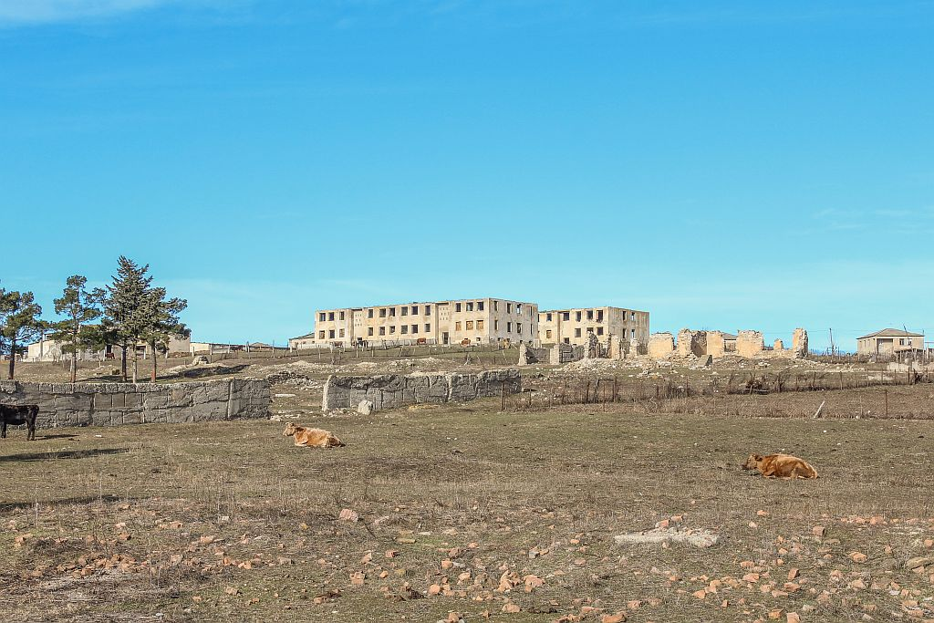 Abandoned/ ruined buildings in Udabno