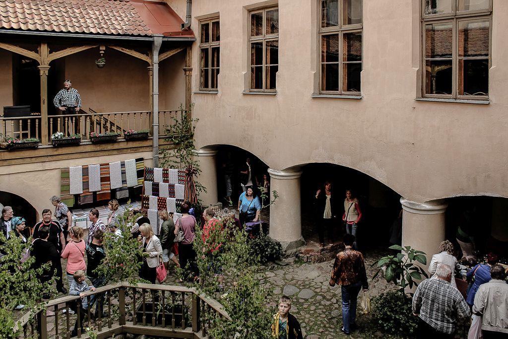 Inside square at Ēdole Castle