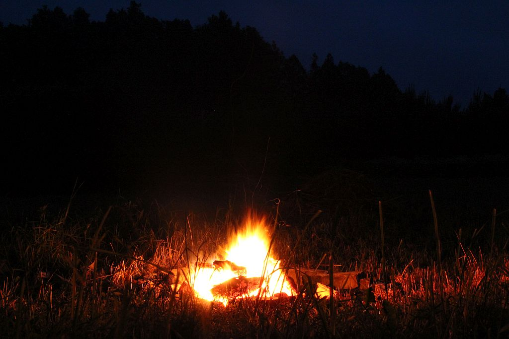 Summer Solstice fireplace