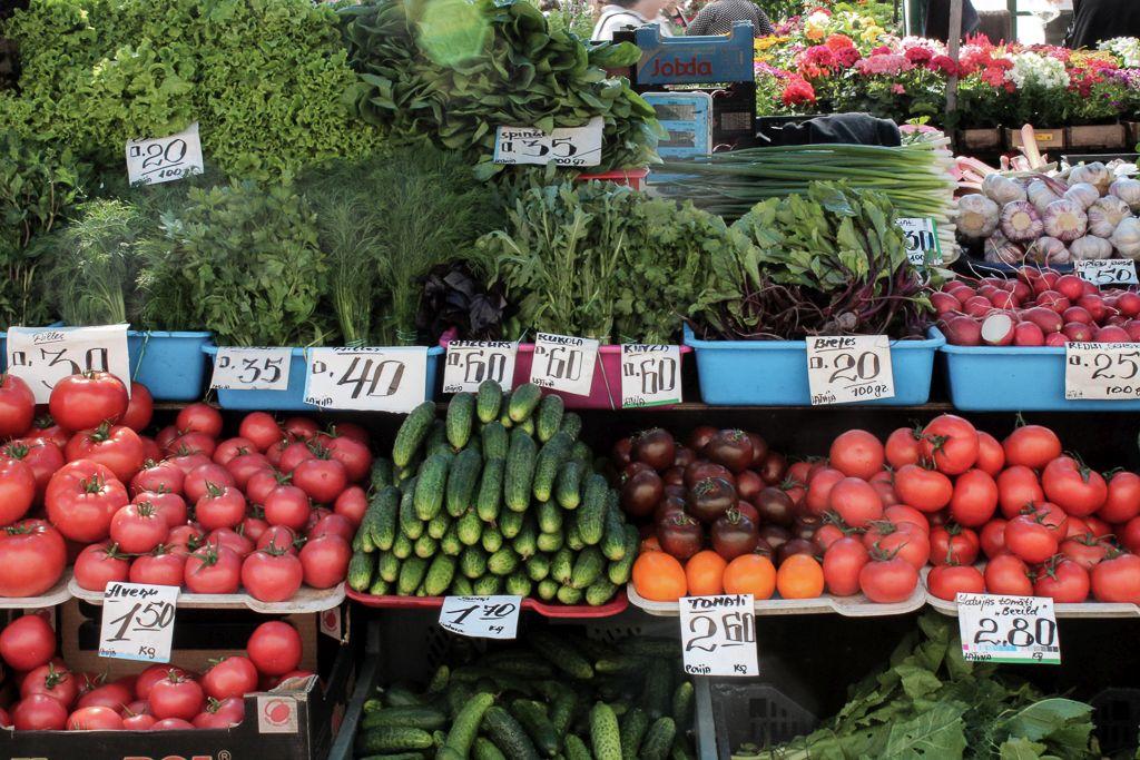 Vegetables for sale at Riga Central Market
