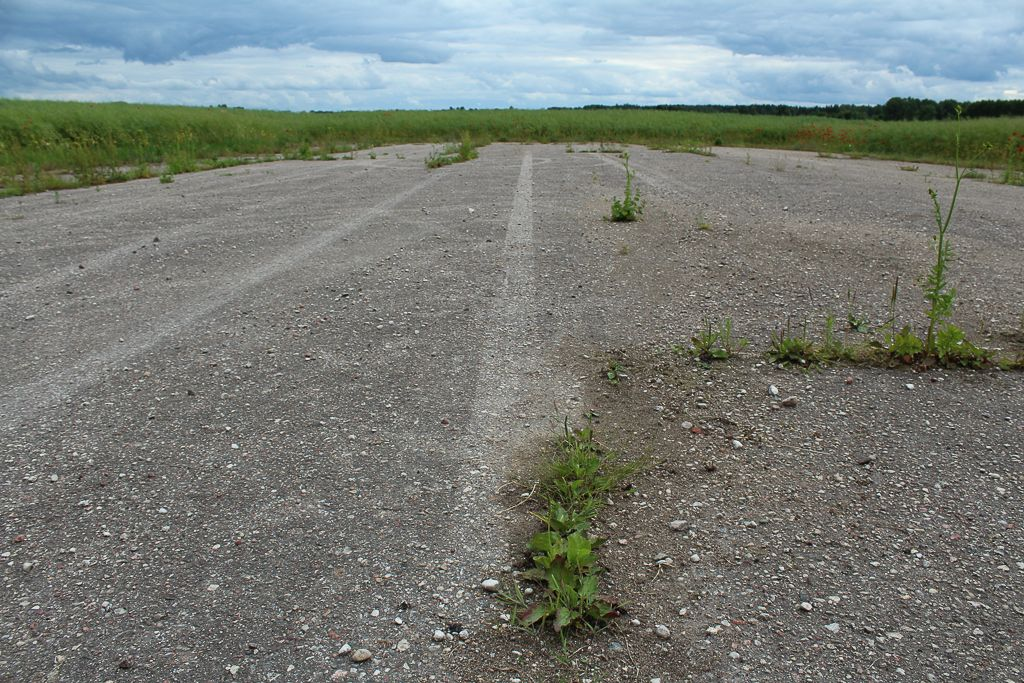 Abandoned airfield in Latvia