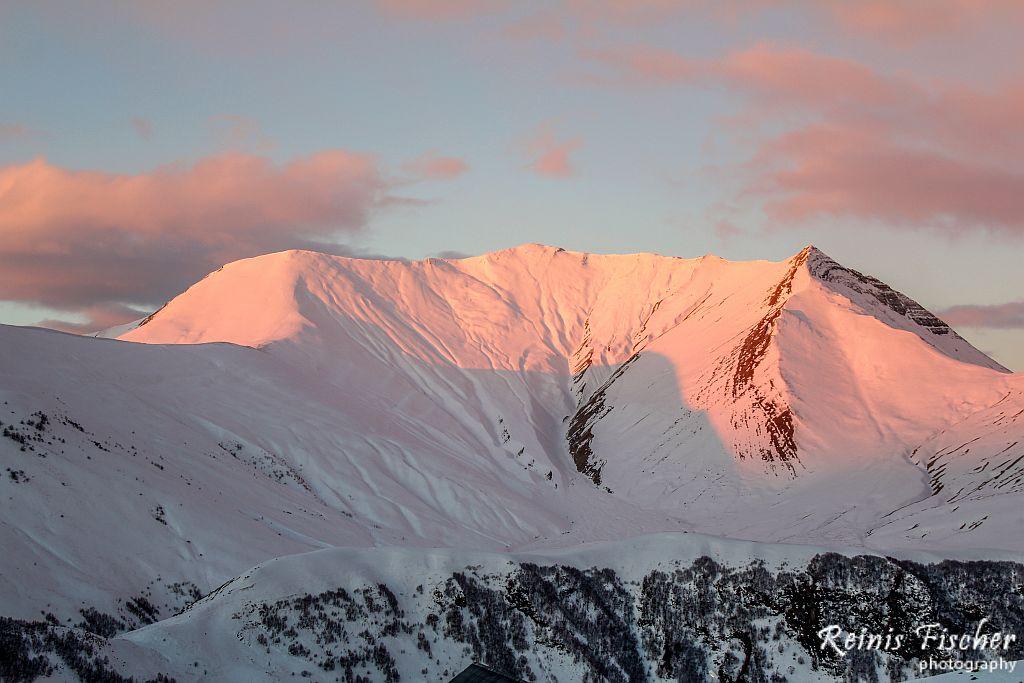 Caucasus mountains in Gudauri