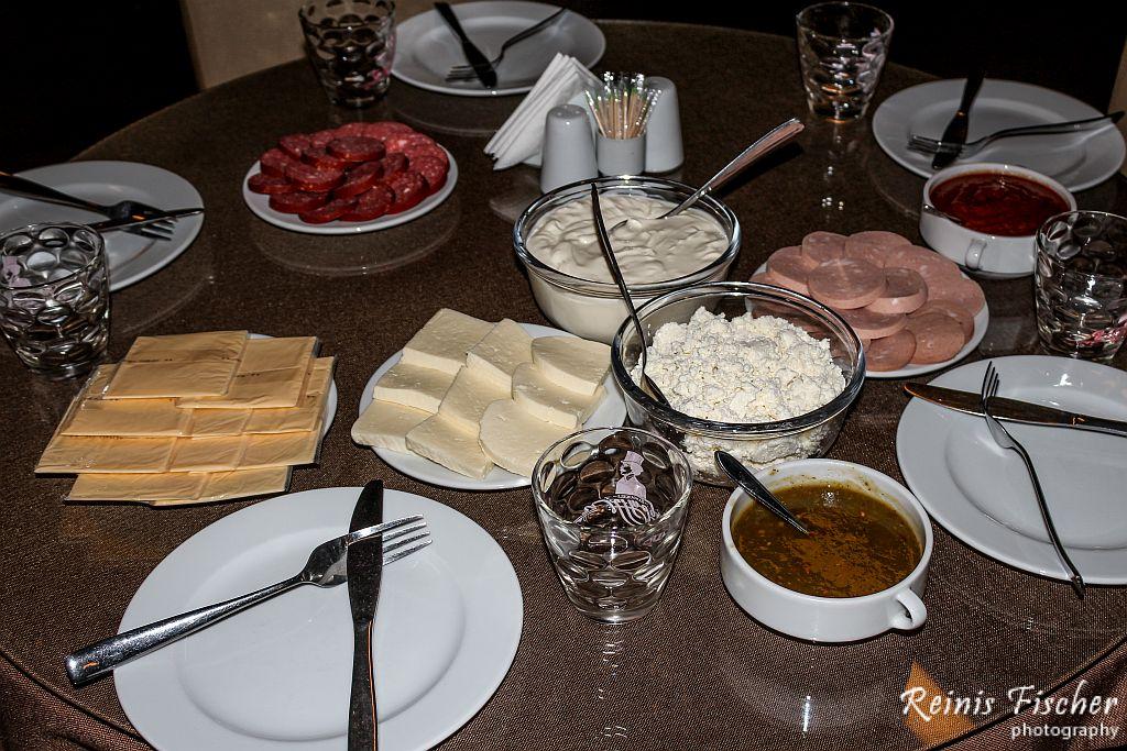 Breakfast at Hotel Edelweiss, Gudauri