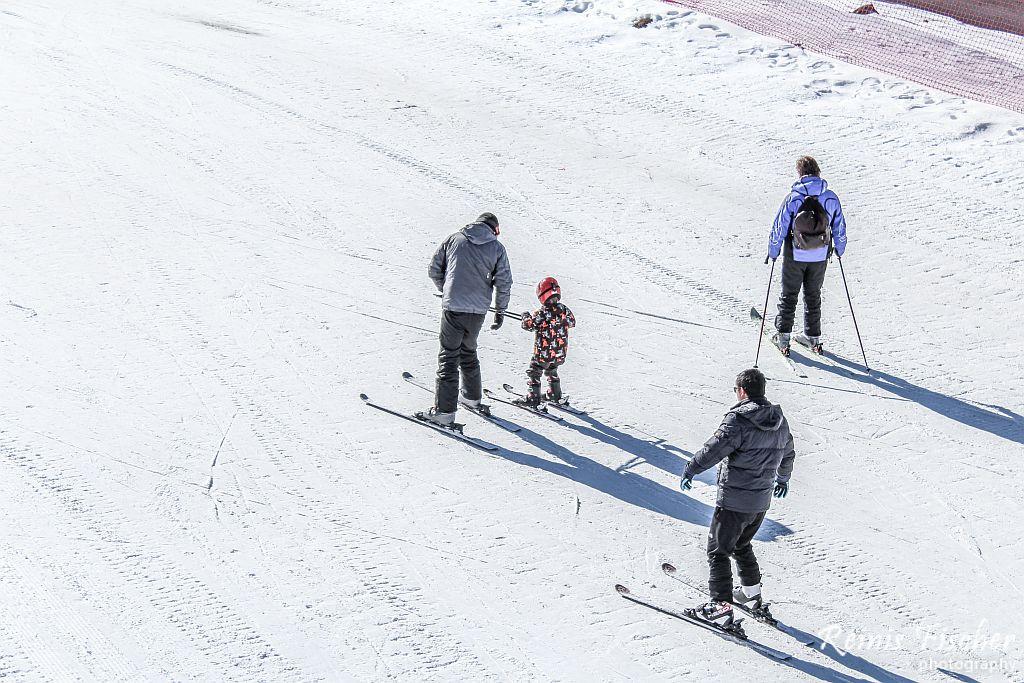 Skiers at Gudauri ski resort