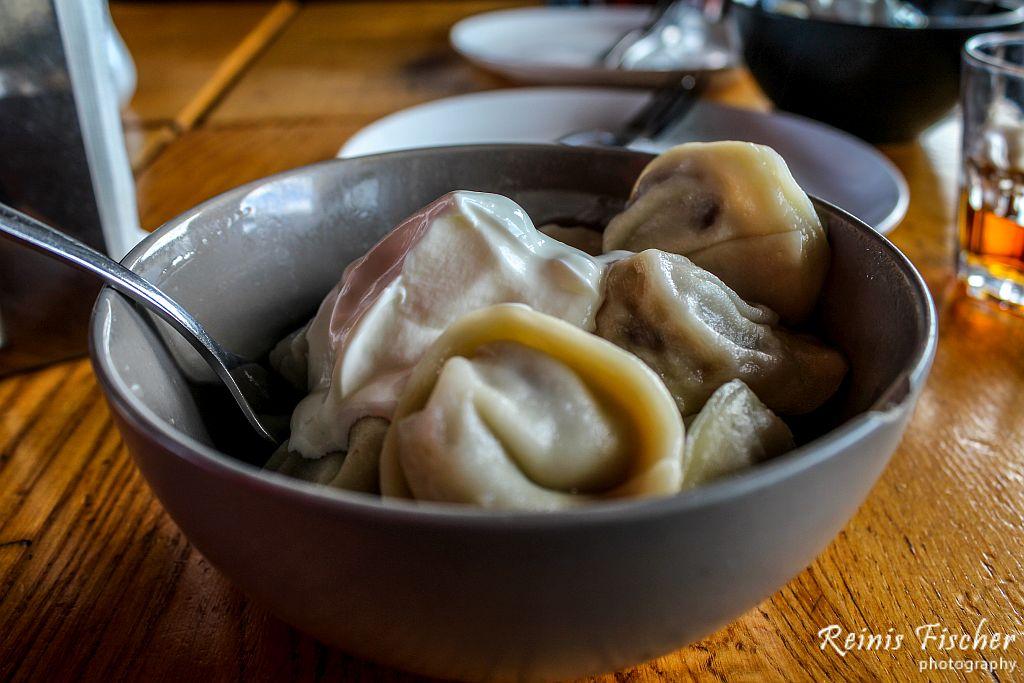 Dumplings at Cafe bar Gradus