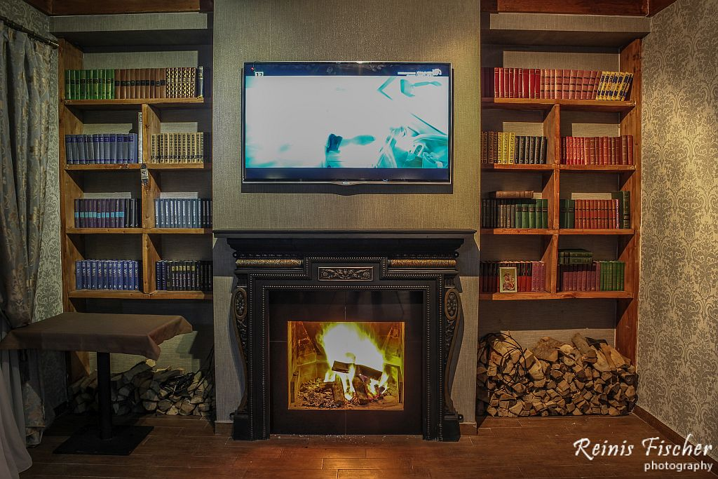 Fireplace at Hotel Edelweiss