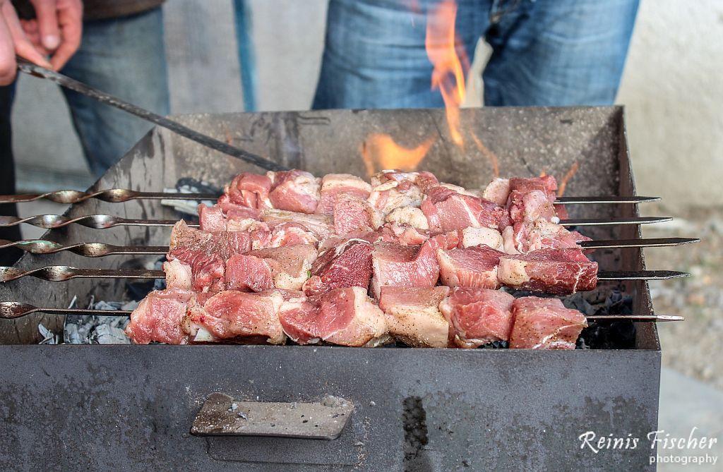 Sashlik on grill