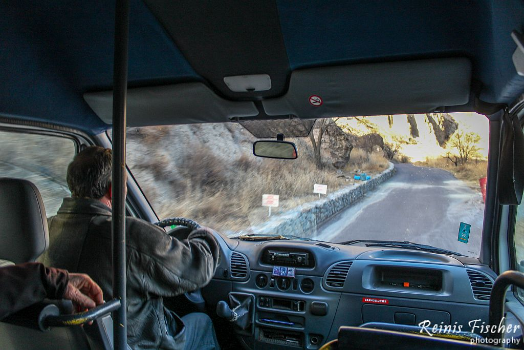 Minivan taking to the caves