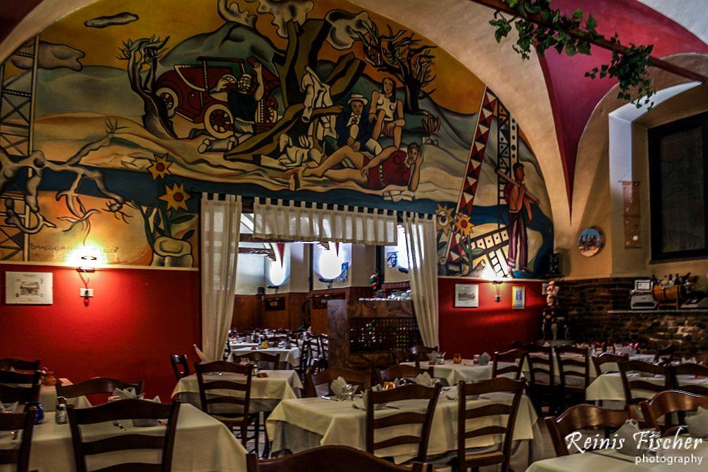 Inside interiour at Osteria San Martino