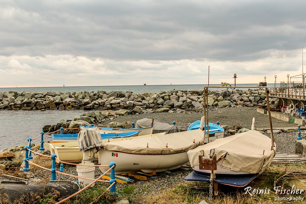 Boats in Italian Riviera