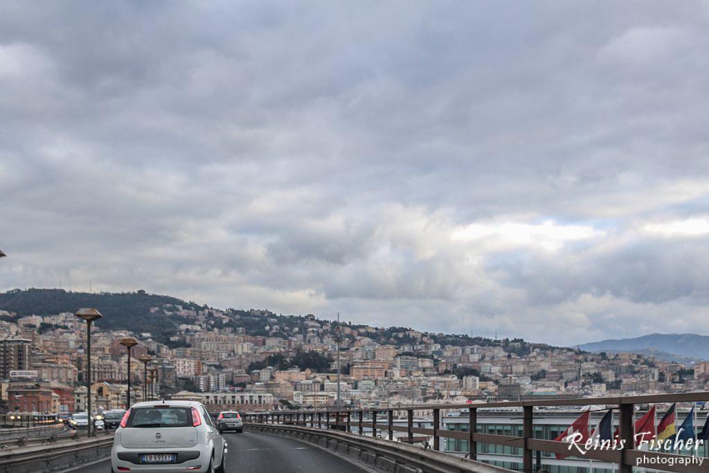 Driving around Genoa