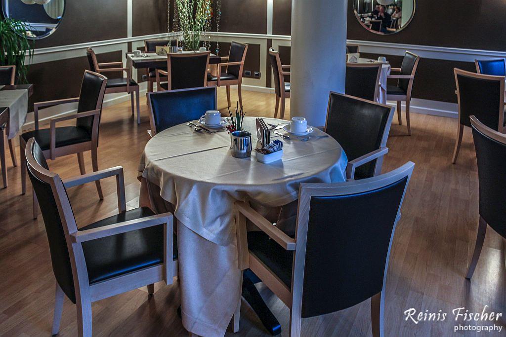 Breakfast room at Hotel Albergo Celide in Lucca, Italy