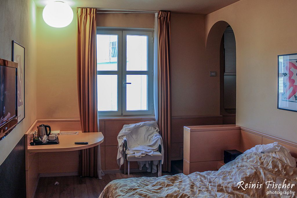 Dungeon style room in Albergo Celide hotel