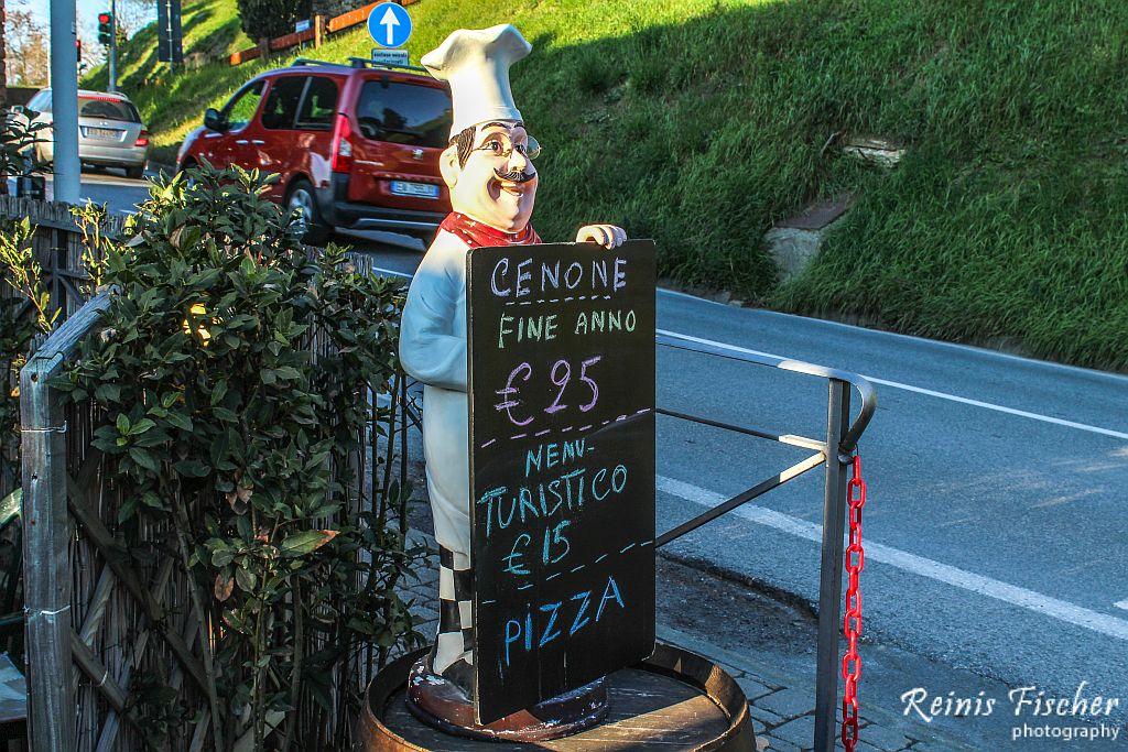 Roadside restaurant I Fossi in San Gimignano, Italy