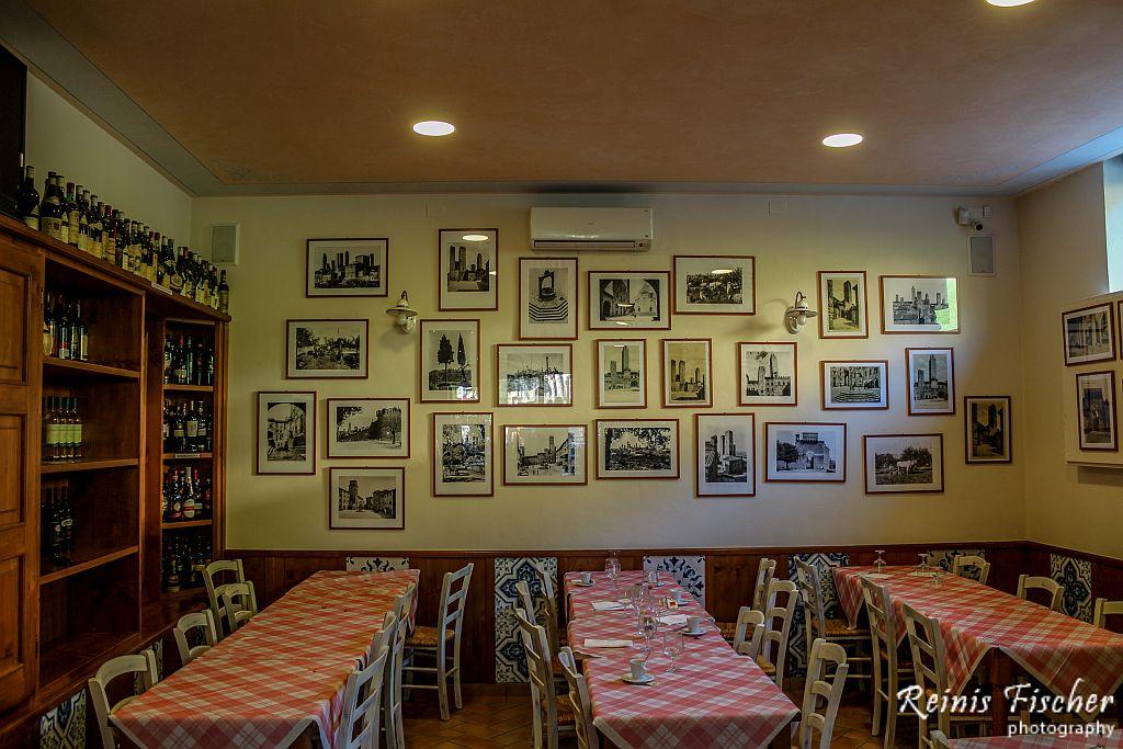 Interior at i Fossi restaurant