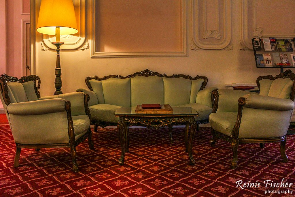 Lobby at Villa Carlota hotel