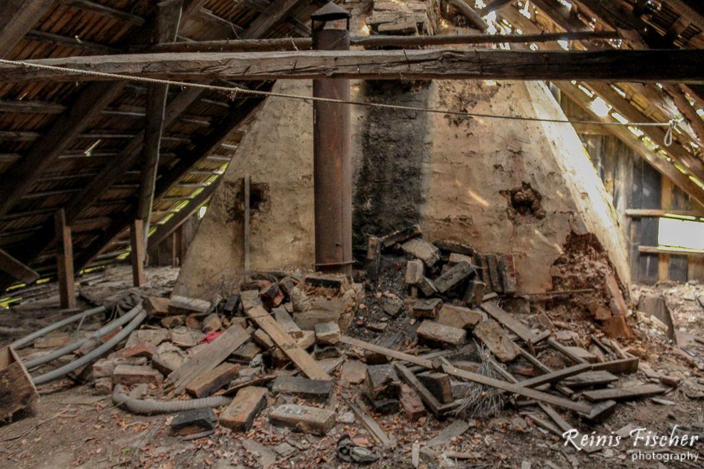 Bricks and junk at loft