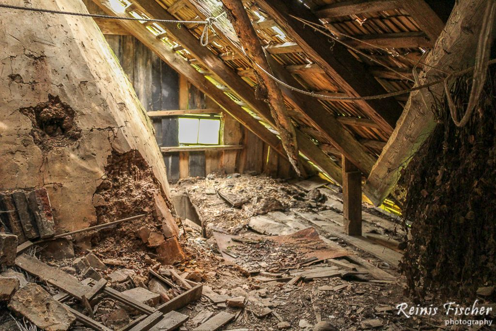 Leaky roof and rotted floor
