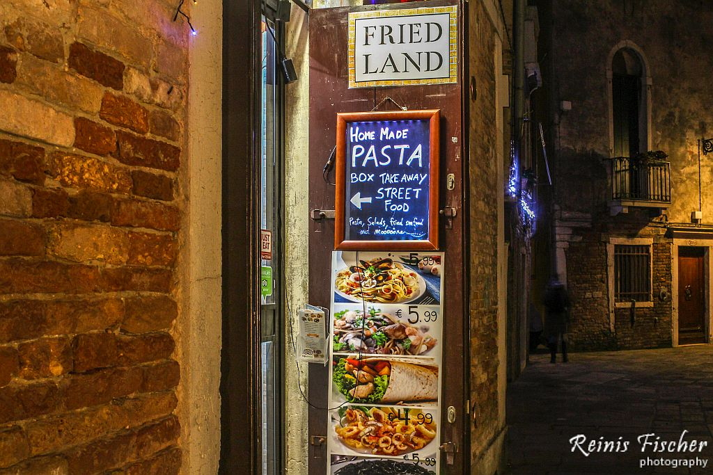 Fried Land in Venice, Italy