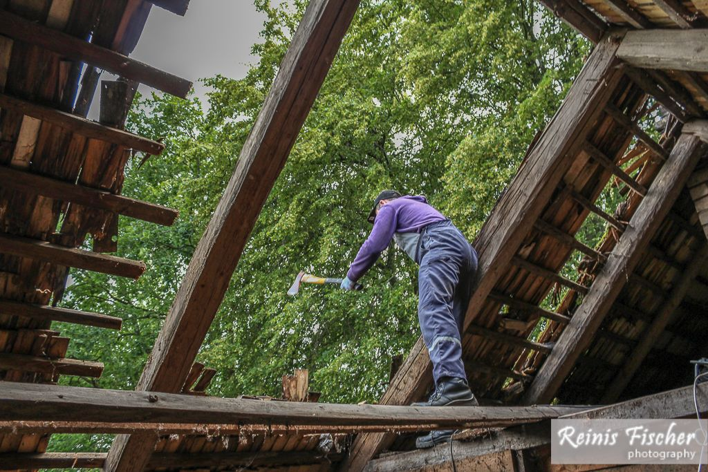Using ax to free up the beams