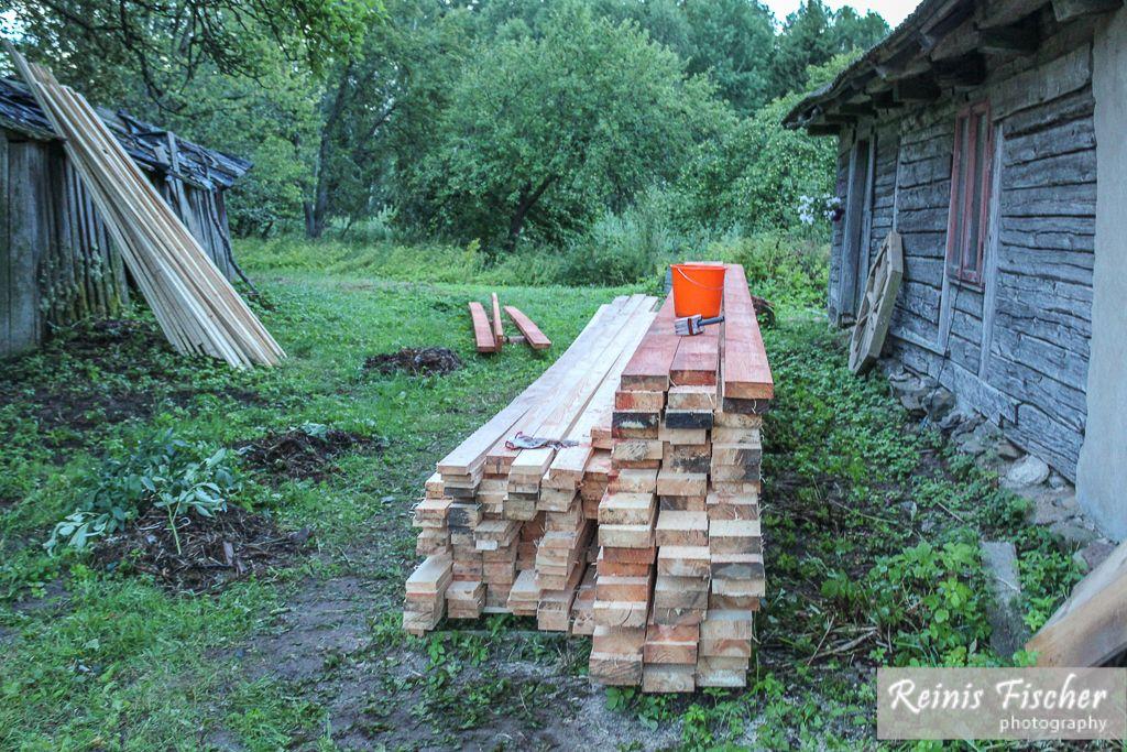 Wood processing with antiseptics