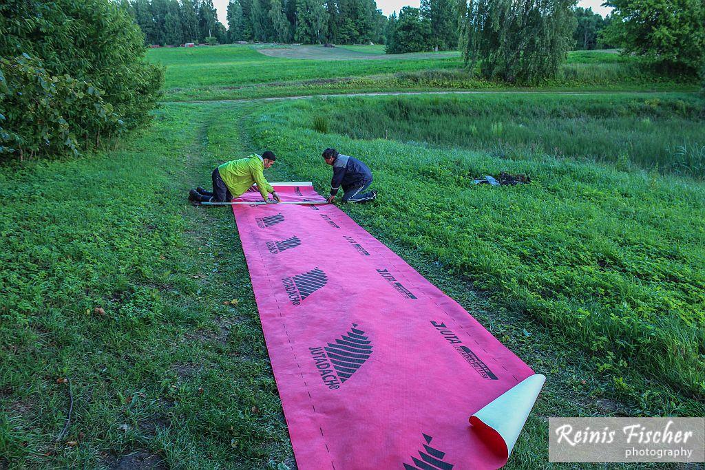 Measuring crosswind sheet
