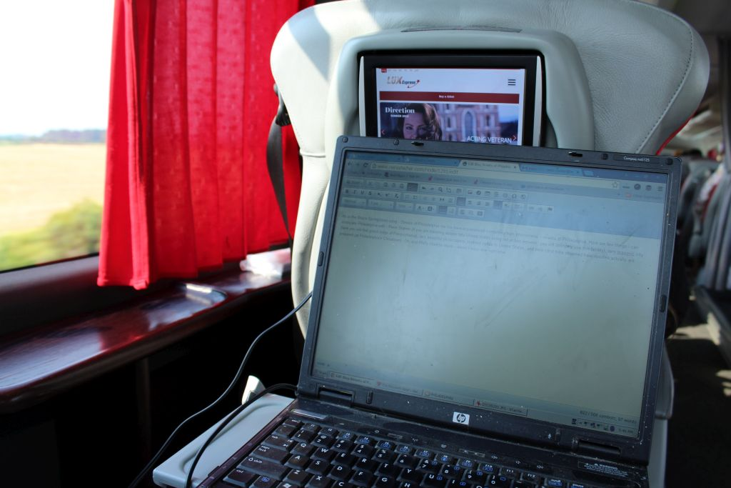 Lounge seat and Free Wifi at Lux Express coach