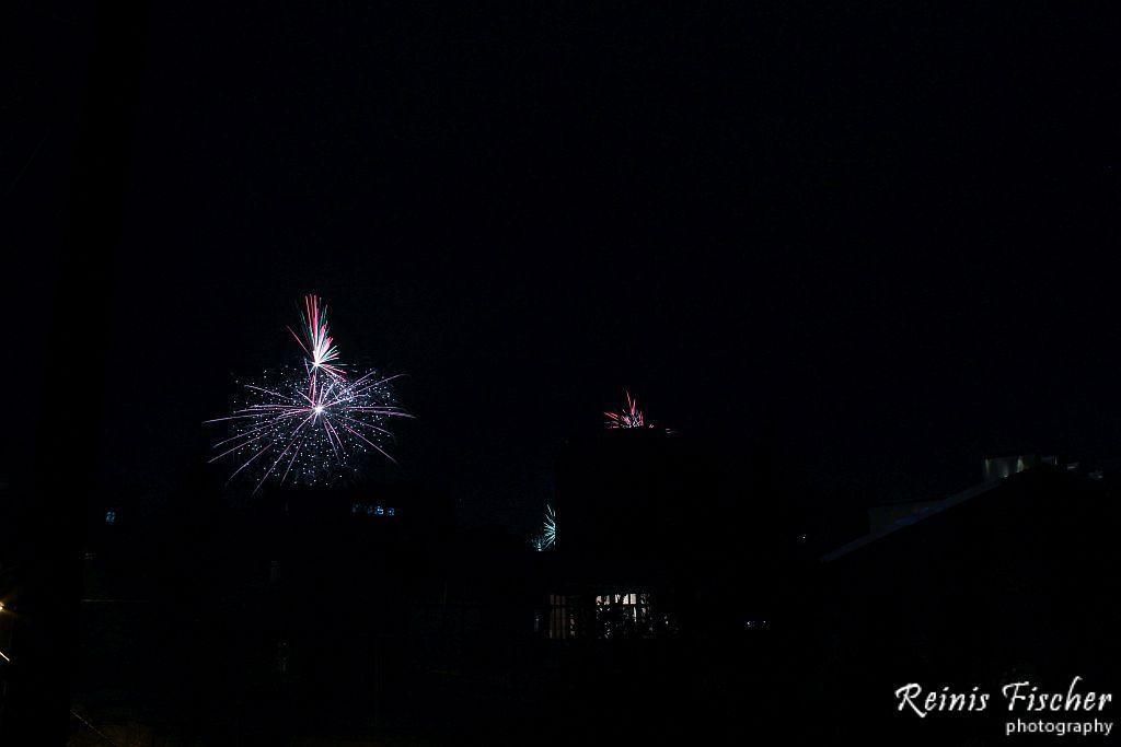Fireworks in Tbilisi, Georgia