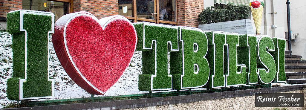 I love Tbilisi sign in Old Town