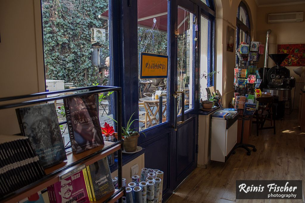 At Prospero's Bookshop in Tbilisi