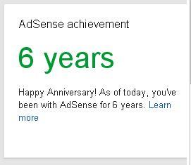 Google Adsense Achievment